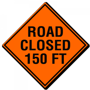 Road Closed 150ft
