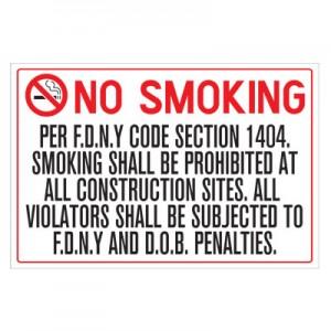 No Smoking Per FDNY